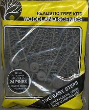 Tree Kits w/ armatures & foliage TR1105 CONIFER model scenery O Scale 24 trees