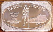 USSC DANIEL BOONE INDIAN FIGHTER SKIN CAP KENTUCKY PIONEER LONG GUN SILVER BAR
