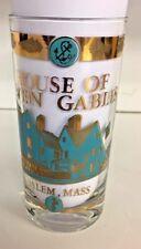 Vintage House Of Seven Gables Souvenir Glass Salem Massachusetts Witch Hunt Wow