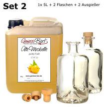 Alte Mirabelle 5Linkl. 2 Flaschen + 2 Ausgießer Schnaps Obstler kein Brand 40%V.