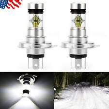 2X H4 9003 100W 20000LM 6000K Car COB LED Conversion Headlight Bulb Hi/Low Beam
