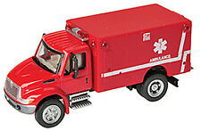 1:87 HO Scale International 4300 EMS Ambulance Die-Cast SceneMaster #949-11931