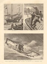 1890 ANTIQUE PRINT- FROM ABERDEEN,HONG KONG TO MACAO IN A TORPEDO BOAT 2