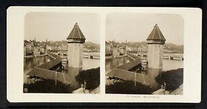 16.STEREOVIEWS>SWITZERLAND/SCHWEIZ<LUZERN, Kapellbrücke