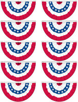 3x5 ft American USA Bunting Flag Fan Parade Banner rwbf - 10 PACK