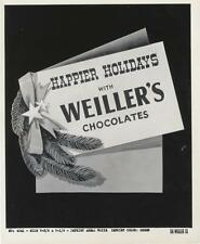 VINTAGE AD STILL-ORIGINAL PHOTO-THE WEILLER COMPANY-CHOCOLATES-CHRISTMAS