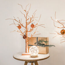 2FT INDOOR BATTERY OPERATED METALLIC COPPER CHRISTMAS WEDDING TREE LED LIGHT