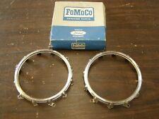 NOS OEM Ford 1957 Fairlane Tail Light Lens Bezels