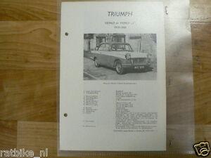 TR4-TRIUMPH HERALD EN HERALD S 1959-1960 TECHNICAL INFO