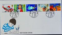 GB SOUVENIR COVER MANCHESTER STAMP DATE 31 MARCH 1982 - CHRISTMAS 1981