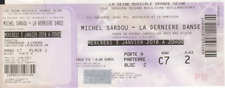 Michel Sardou Ancien Billet Ticket Vintage Concert Invitation 3 janv 2018