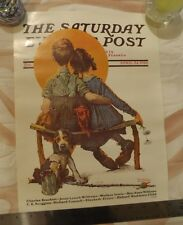 Saturday Evening Post Norman Rockwell Posters/Prints Lot 3 Spooners Grace Doctor
