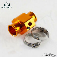 "28MM 1.11"" Water Temp Gauge Radiator Sensor Adaptor Attachment Aluminum Gold"