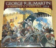 GEORGE MARTIN SONG OF FIRE AND ICE ARTWORK CALENDAR 2014 NEW GAME OF THRONES