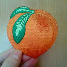 Peach - Fruit - Georgia - Embroidered Iron On Applique Patch