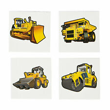 Construction Builder Machines Temporary Tattoos giveaways - pack of 36