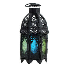 MOROCCAN LANTERN METAL TEALIGHT CANDLE HOLDER LAMP TABLE DECOR GIFT Black A