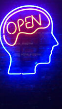 "New Open Mind Brain Neon Sign Beer Cub Gift Light Lamp Bar Wall Room 17""x14"""