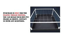 "4' x 16' FEET Trellis Netting 6"" x 6"" Mesh Square SCROG Plant Support BAY HYDRO"