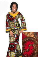 Custom Made African Skirt/Top, Medium, 100% Cotton