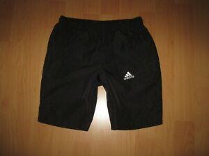 🍀 Adidas Bade Shorts Größe 116 Schwarz sehr guter Zustand