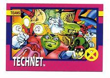 Impel 1992 X-Men Series 1 (I) Base Card #80 Teams Technet