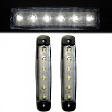 2 Pcs White 6 LED Side Marker Lights 12V Waterproof Truck Trailer Caravan Lorry