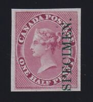 Canada Sc #8PI (1857-64) 1/2d Victoria ROSE PLATE PROOF VF