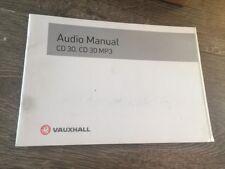 #31 VAUXHALL CD30 MP3 CD RADIO AUDIO MANUAL HANDBOOK CORSA ASTRA VECTRA ZAFIRA