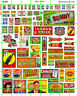 5080 DAVE'S DECALS HO1930's and 1950's ADVERTISING MISC SIGNAGE GROCERY SODA etc