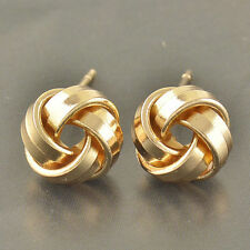 Lovely 9k Yellow Gold Filled Love Knot Stud Earrings NEW F6273