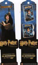 SEGNALIBRO-HARRY POTTER-LA PIETRA FILOSOFALE-pubbliiczza il DVD E VHS- NUOVO