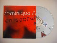 DOMINIQUE A : EN SECRET [CD SINGLE PORT GRATUIT]