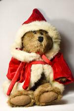 Boyds Bears: Kringle Bear - 10 inches - Greyish Bear in Santa Kringle Suit