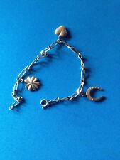 Bracelet Porte-Bonheur en Argent / Solid Silver Lucky Charms Bracelet