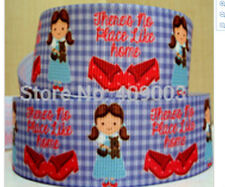 Wizard of Oz Ribbon There's no place like home Dorothy Red Ruby Shoes