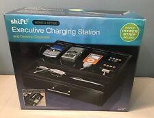 Shift3 Home & Office Executive Charging Station & Desktop Organizer Drawer Black