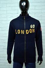 Maglione Uomo BOY LONDON Taglia Size L Pullover Sweater Cardigan Felpa Lana Blu
