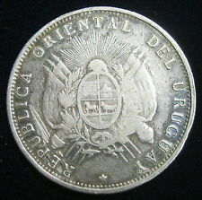 URUGUAY - 50 CENTESIMOS 1894 - Argent