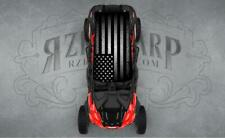 4 SEAT POLARIS RZR CAN-AM GREY FLAG UNIVERSAL ROOF WRAP STICKER GRAPHIC DECAL