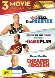 The Pacifier / The Game Plan / Cheaper By The Dozen : NEW DVD