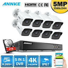 Annke 5in1 4K 8Mp 8Ch Dvr 5Mp Video Outdoor Surveillance Security Camera System