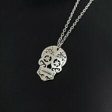 Vintage skeleton pendant necklace for women, ethnic skull necklace,skull jewelry