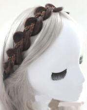 Fashion Cucurbit Shape Headwear Women Handwork Weaved Hairpieces Hair Band Wigs