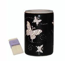Black Butterfly Laser Cut Ceramic Electric Oil Burner Lamp