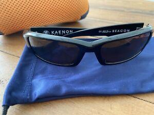 Kaenon Beacon Black SR 91 Amber Polarized Lens *RARE*