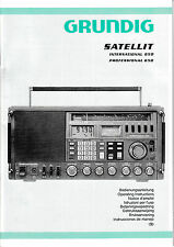 Operation Instructions-Bedienungsanleitung für Grundig Satellit 650