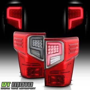 For 2016-2021 Titan XD Red LED Tube Tail Lights Brake Lamps Pair Set Left+Right