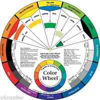 LARGE ARTIST COLOUR WHEEL PAINT MIXING GUIDE EDUCATIONAL AID ART PAINTING THEORY