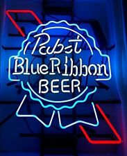 "New Pabst Blue Ribbon Beer Neon Sign 17""x14"""
